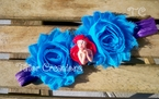 Disney Princess Ariel Shabby Chic flowers Headband