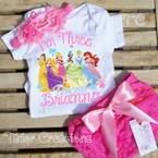 Disney Princess Personalized Petti Lace Bloomers/Shorts Set