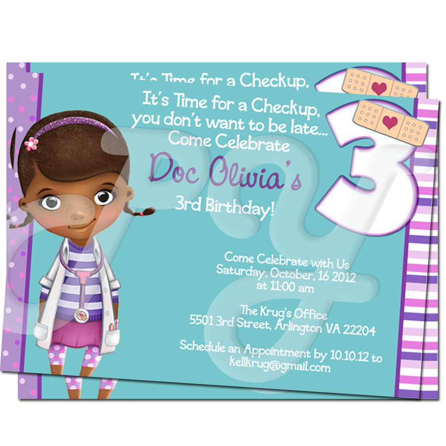Doc McStuffins Personalized Invitations