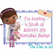 Doc McStuffins Personalized Party Favor