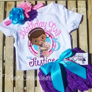 Doc McStuffins Personalized Petti Lace Set