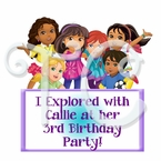 Dora and Friends in the City Personalized Party Favor