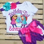 Dora And Friends Into the City Personalized Petti Lace Set
