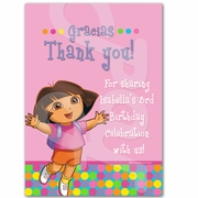 Dora the Explorer personalized thank you cards