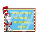 Dr Seuss personalized birthday Party Favor