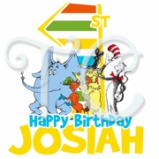 Dr. Seuss personalized birthday  t shirt