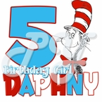 Dr Seuss personalized birthday t shirt