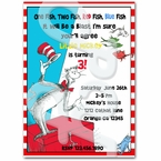 Dr Seuss personalized invitations