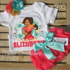 Elena of Avalor personalized Petti Lace Set