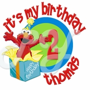 Elmo personalized birthday t shirt