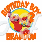 Elmo Personalized Birthday t-shirt