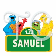 Elmo Sesame St Personalized Birthday shirt
