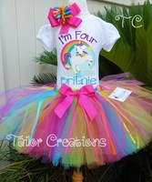 Fairytale Unicorn Rainbow Personalized tutu set