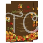 Fall Thanksgiving Dinner invitations