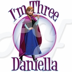 Frozen Anna Personalized Birthday t-shirt
