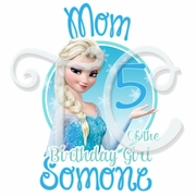 Frozen Elsa Personalized Parents Birthday t-shirt