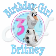 Frozen Olaf Personalized Birthday t shirt
