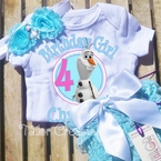 Frozen Olaf Personalized Petti Lace Bloomers/Shorts