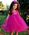 Fuchsia Flower tutu dress