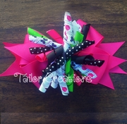 Garden Bugs Ladybug and Butterfly Korker Bow Clip