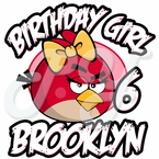 Girl Angry Bird Personalized Birthday t shirt