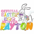 Girl Official Egg Hunter Easter personalized t shirt