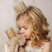 Glitter Gold Lace Crown