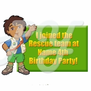 Go Diego Go Personalized Party Favor