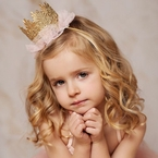 Gold Glitter Lace trimmed Crown