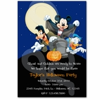 Halloween Mickey personalized party invitations
