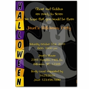 Halloween personalized party invitations