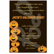 Halloween personalized pumpkin party invitations