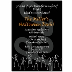 Halloween skeleton personalized party invitations