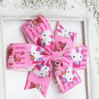 Hello Kitty Grosgrain Hair Bow Clip