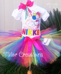 Hello Kitty personalized birthday tutu set
