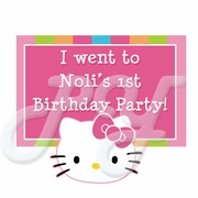 Hello Kitty Personalized party favor