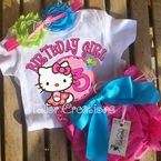 Hello Kitty Personalized  Petti Lace Set