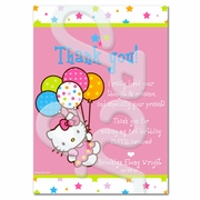 Hello Kitty personalized thank you cards