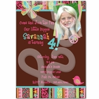 Hippie Chick personalized invitations
