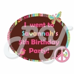 Hippie Chick personalized party favor