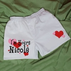 """I'm Yours"" Personalized Valentines day Mens Boxers"