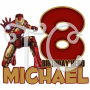 Iron Man Personalized Birthday t shirt