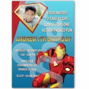 Iron Man personalized invitations