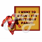Iron Man Personalized Party Favors T shirts