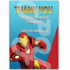 Iron Man personalized thank you cards