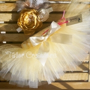 Ivory and Gold Newborn Custom tutu Set