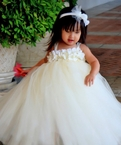 Ivory Hydrangea Pearl tutu Dress Set