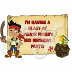 Jake and the Never Land Pirates personalized party favor
