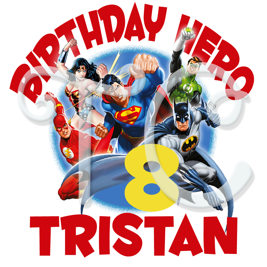 Design your own t-shirt maker - Justice League Personalized Birthday T Shirt
