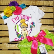 Keep Flying Tinker Bell Personalized Petti Lace Set
